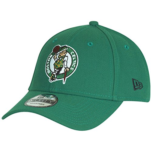 NEW ERA Men's 11405617 NBA Boston Celtics Hat The League 9Forty Adjustable Cap Green Adult