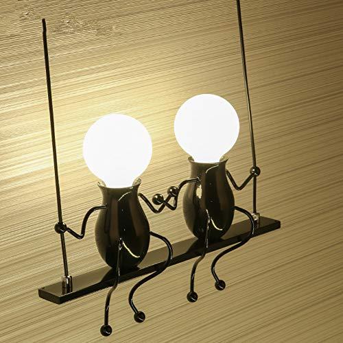 GKJRKGVF wandlamp slaapkamer nachtkastje robot wandlamp smeedijzeren nacht