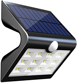 Solar Wall Light Garden Outdoor Motion Sensor Lighting 14 LED Security Night Lighting Auto On/Off Lamp with Rear Projectio...
