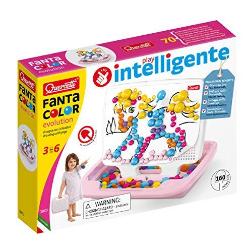 Quercetti Pixel EVO Girl Multicolor Juguete de Habilidad motora - Juguetes de Habilidades motoras (Multicolor, Chica, 3 año(s), 6 año(s), 220 mm, 190 mm)