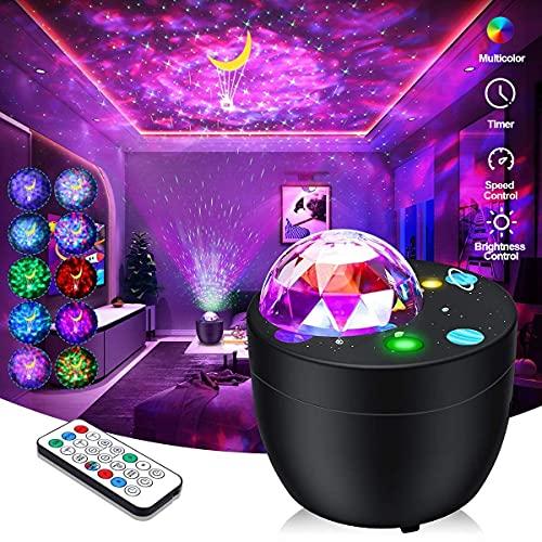 yijiahome Led Sternenhimmel Projektor mit Fernbedienung & Timer Galaxy Nachtlicht Sternenlicht Projektor 40 Farben für Kinder Erwachsene Schlafzimmer Dekoration Party Geschenke