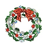 Weihnachtskranz Brosche, versilbert Festival Schmuckzubehör für Frauen Xmax Geschenk Weihnachtsstrauß Sehr praktisch und beliebtDauerhaft Nützlich und praktisch Nettes Design Praktisches Design un