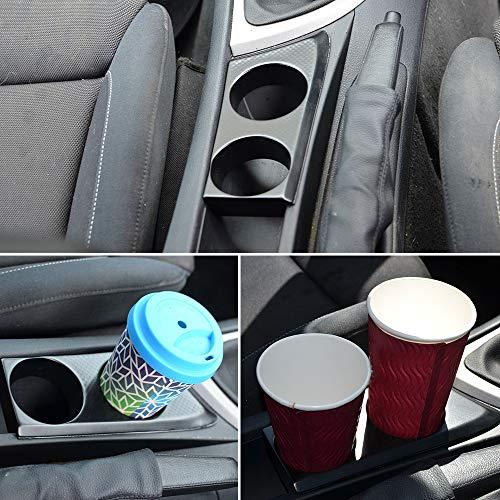 KKmoon Automobile Cup Holder Cup Base Fit for BMW 1 Series 116 116i 118 118i 118d 120 120i E87 E81 E82 E88 Black