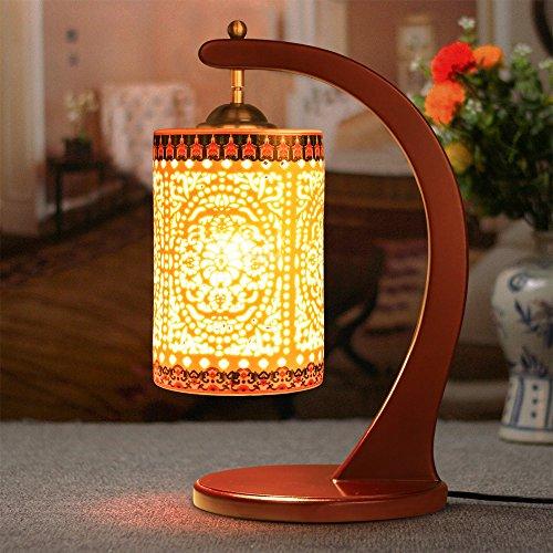 Hand bemalte Porzellan Tischleuchte Chinesische Retro Nachttischlampe Schlafzimmer Wohnzimmer Tischlampe Deko Licht
