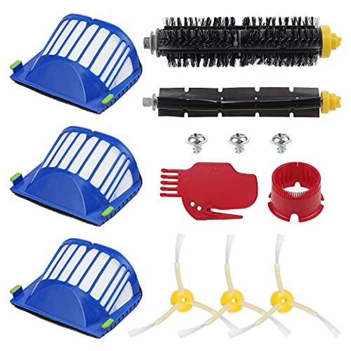 Coolt Y 13 piezas de cepillos y filtros de repuesto compatible con iRobot Roomba 600 Series Kit de mantenimiento de accesorios de limpieza para 650 620 651 621 615 616 605