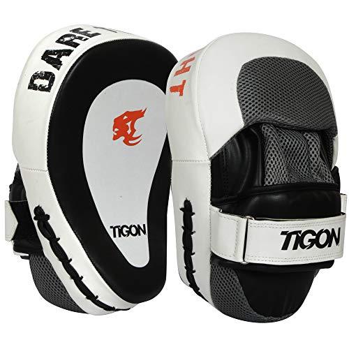 Tigon MMA - Almohadillas de Boxeo para Artes Marciales Mixtas, Blanco