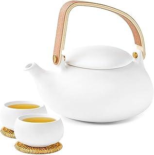 ZENS Teeservice Porzellan mit Teekanne, Chinesisch Keramik T
