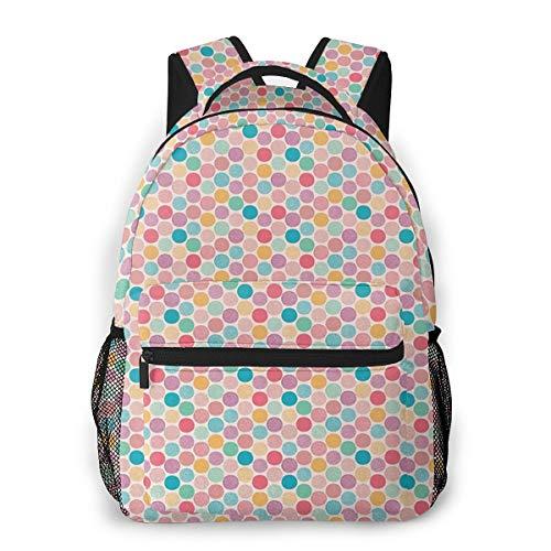 Travel Backpacks for Men Women, College School Laptop Bookbags Business Computer Bag Camping Daypack Pastel 592