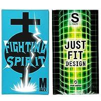 JUST★FIT(ジャストフィット) S 12個入 + FIGHTING SPIRIT (ファイティングスピリット) コンドーム Mサイズ 12個入