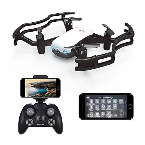 HAOXIN F21G IELLO FPV RC Drone Quadcopter avec Live Caméra Vidéo HD 720p, Positionnement de Flux Optique Gesture Contrôle Chorégraphie VR Mode Mini Hélicoptère pour Les Enfants et Les Débutants