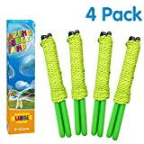 E-Know Bubble Wand, 4 Pack Giant Bubble Wand Outdoor Toy for Kids, Recyclable Stainless Steel, Telescopic Design Bubble Party Favors,Works Best with Bubbleventi Bubble Mix
