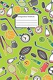 Composition Notebook: Por sportaj entuziasmuloj, bela Noto kun ruĝa fono 6x9 inch 120 pages