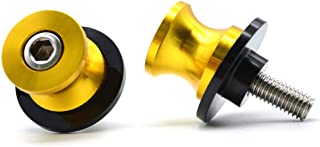 2pac M10 Motorcycle Universal Swing armSliders Spools CNC Swing Arm Stand Screw For KTM Duke Yamaha Kawasaki and More (yellow)