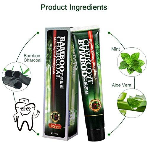 Dentifrice Blancheur P?te Dentifrice Blanchiment de Charbon Bambou Antibact?rien/Mauvaise Haleine Supprimer