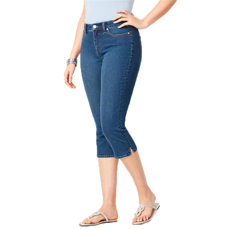 Women's Amanda Capri Jean Stretch Denim Jean Capris Pants Butt Lift Denim Capri Jeans (Small,Navy Blue)