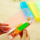 Dusenly 5 x Estuche de viaje para cepillo de dientes, caja de almacenamiento de plástico para pasta de dientes portátil y transpirable para...