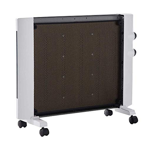Calefactor Panel portátil blanca Calentador, Mica Térmico panel calefactor, tranquila habitación completa 1500W, independiente / Fácil Instalación de montaje en pared, Termostato ajustable y 2 configu