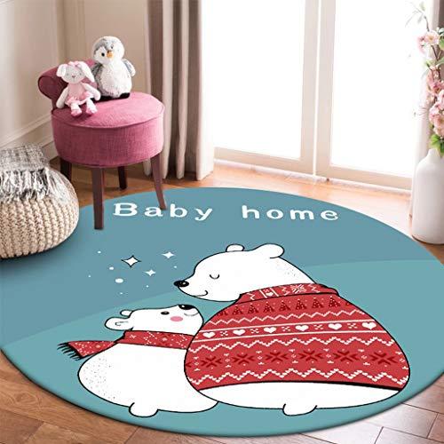 Zhao Li vloerbedekking moderne casual ronde omgeving tapijt gemakkelijk te reinigen Vlek Fade Resistant Abstract hedendaagse zachte woonkamer eetkamer tapijt tapijten