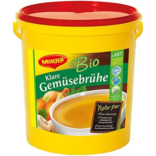 Maggi Bio Klare Gemüsebrühe (100% natürliche Zutaten aus ökologischer Landwirtschaft) 1er Pack (1 x 11kg Eimer)