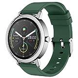 Ake Smart Watch Männer Und Frauen Eingebaute MP3-Musik-Player Bluetooth-Anruf Herzfrequenz-Monitor Sport Smartwatch Für Android IOS,A
