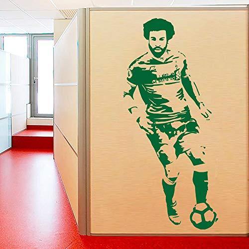Egypte Egyptische voetballer decal muursticker foto poster Kinderkamer Wereldbeker Kom op Egypte 42x93cm