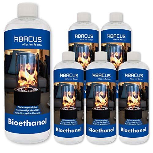 ABACUS 6x 1 L BIOETHANOL - Bio-Flamme Brennstoff Brennspiritus Spiritus Lampenbrennstoff Bio-Ethanol für Tischkamine (7071)