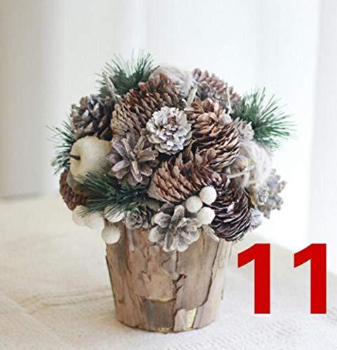 LGYLucky Decoración de Navidad de la mesa de la flor centro de mesa de flores secas decoración del hogar flores preservadas hechas a mano flores otoño,NO.11