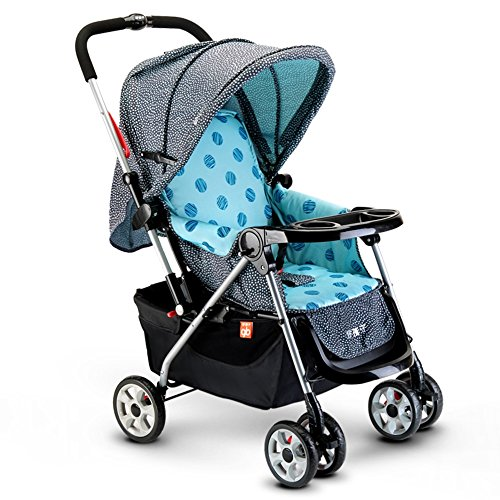 Lowest Price! ZJⓇ Baby Carriage Can Be Sitting On Both Sides of The Whole Push Two-Way Baby Foldin...