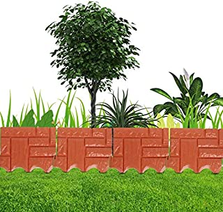 Goonpetchkrai.rapat7498 Garden Edging - 1PC Plastic Lawn Garden Grass Edging - Border Fence Home Gardening DIY Fence Decor