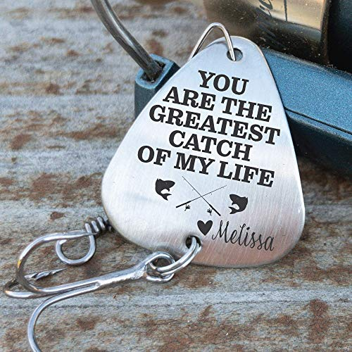 Personalized Fishing Lure You Are The Greatest Catch Of My Life Fishing Lure Gift Men's Gift for Husband Gift Boyfriend Personalized Name GREATEST-LURE