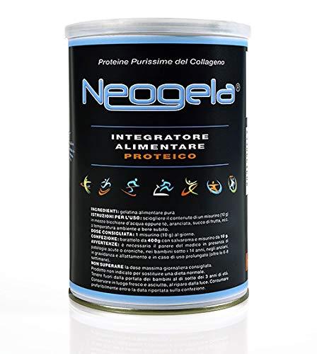 NEOGELA collagene purissimo (400gr, purezza oltre il 99%, Prodotto Naturale)
