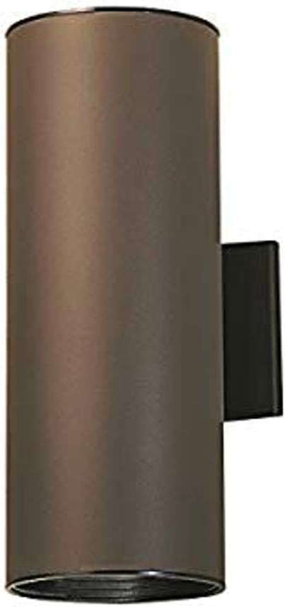 Kichler 9246AZ Outdoor Cylinder Wall Sconce specialty shop Downli Mount UpLight Cash special price