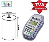 20 tarjeta de crédito de calor de la bobina 57 x 40 x 12 m térmicas -papel Rodillos de tarjetas estándar de la máquina CEE