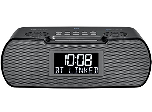 Sangean RCR-20 FM-RDS (RBDS) AM/Bluetooth/Aux-in/USB Charging Digital Tuning Clock Radio (Renewed)