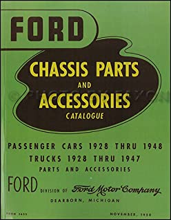 1928-1948 Ford Green Bible Mechanical Parts Book Reprint