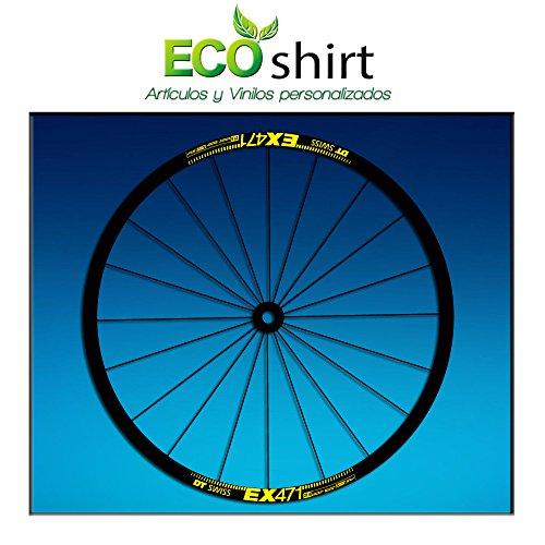 Ecoshirt F9-5H2Y-2WKV Pegatinas Stickers Llanta Rim DT Swiss Ex471 Bike 26