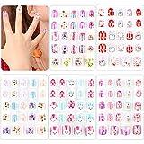 120 PCS Kids Press on Nails Colorful Cute Pattern Fake Nails Full Cover False Nails Art kits, Lovely Gift for Kids...
