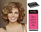 Embrace Wig Color RL6/8 - Raquel Welch Women's Wigs Feathered Bob Flipped Ends Heat Friendly Bundle with Comb, MaxWigs Hair Loss Booklet