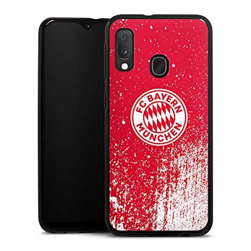 DeinDesign Silikon Hülle kompatibel mit Samsung Galaxy A20e Case Schutzhülle FC Bayern München Offizielles Lizenzprodukt FCB