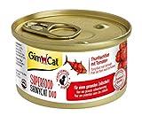 GimCat Superfood ShinyCat Duo Filet con frutas o verduras – Comida para gatos con un filtro jugoso sin azúcar añadido para gatos adultos 24 unidades (24 x 70g)