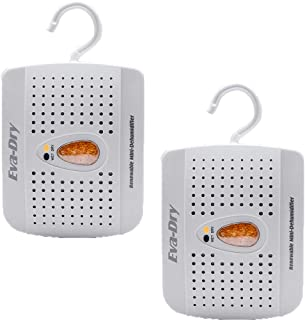 Eva-Dry E-333 Renewable Mini Dehumidifier with Silica Gel Desiccant for Moisture and Humidity Control 2-pack