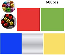 3.15x3.15 Square BUZIFU 800 Pieces 8 Colors Chocolate Candy Wrappers Sweets Foil Wrappers DIY Package Candy Paper Wrapping Papers Aluminum Tinfoil Packaging for DIY Candy Packaging Decoration
