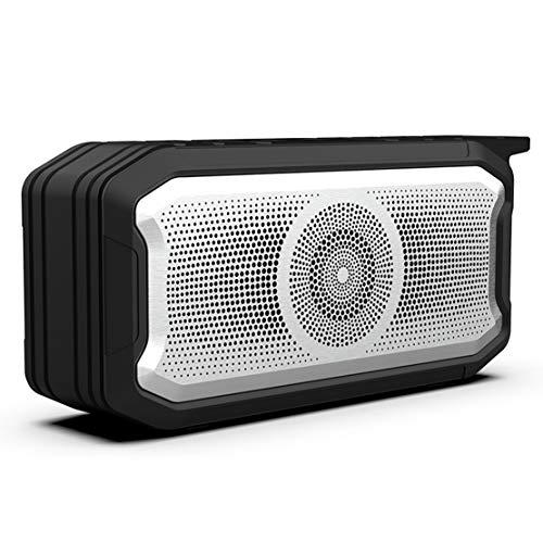 HIOD Bluetooth Altavoz Inalámbrico Radio FM Mini Portátil Bocina Bluetooth 10m (33 pies) Alcance de Bluetooth Micrófono Incorporado para Familia Al Aire Libre,Black