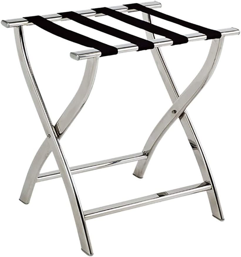 Room Luggage Rack Hotel Stainless Steel Opening large release sale L Folding Max 80% OFF