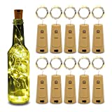 Betus 10 Pack Wine Bottles Cork String Lights - Battery Powered - Decorations for Garden,...