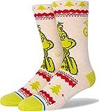 Stance Unisex Grinch Sweater Crew Socks Canvas LG (Men's Shoe 9-13)