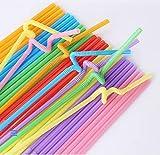 Wythe 500/1000 pajitas, pajitas de plástico multicolor, paquete individual, pajitas de cóctel de...