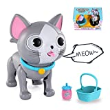 Lucky Doug Robot Cat Pet Toy, Electronic Interactive Induction Sucking Milk Cat & Robot Kitten Toy for Toddler Kids