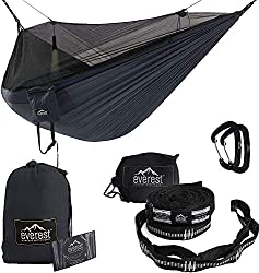 Image of Everest Double Camping Hammock with Mosquito Net | Bug-Free Camping, Backpacking & Survival Outdoor Hammock Tent | Reversible, Integrated, Lightweight, Ripstop Nylon: Bestviewsreviews