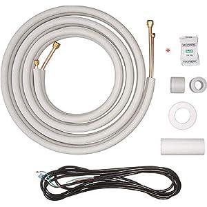 Senville 16 Ft. Copper Pipes for Mini Split Air Conditioner, 1/2″ & 1/4″ OD, White